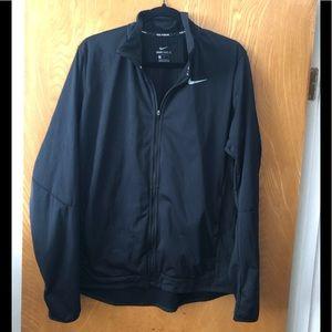 Nike Sheild full zip fleece lined running jacket L